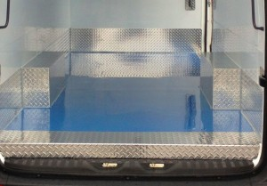 Floor smooth rearview blue 2